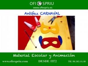 Antifaz de carnaval