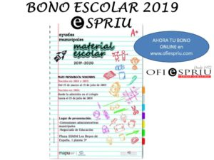 Bono Escolar Benidorm 2019